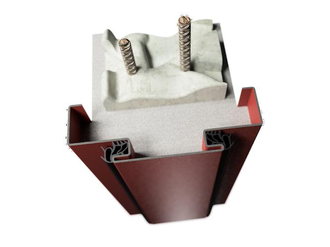 ocelová zárubeň HSE typ DDZ dvoudveřní zárubeň