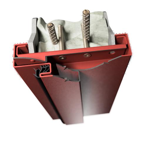 ocelová zárubeň HSE typ DS dvoudílná zárubeň pro dodatečnou montáž