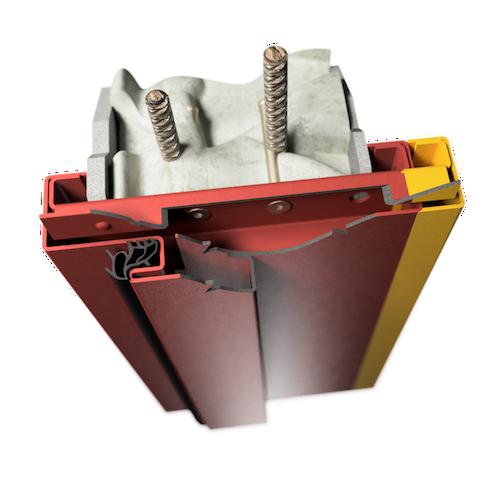 ocelová zárubeň HSE typ DSV dvoudílná zárubeň variabilní pro dodatečnou montáž