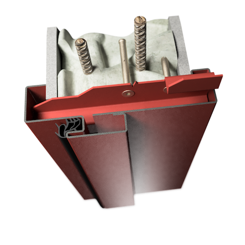 ocelová zárubeň HSE typ DZ dvoudílná zárubeň