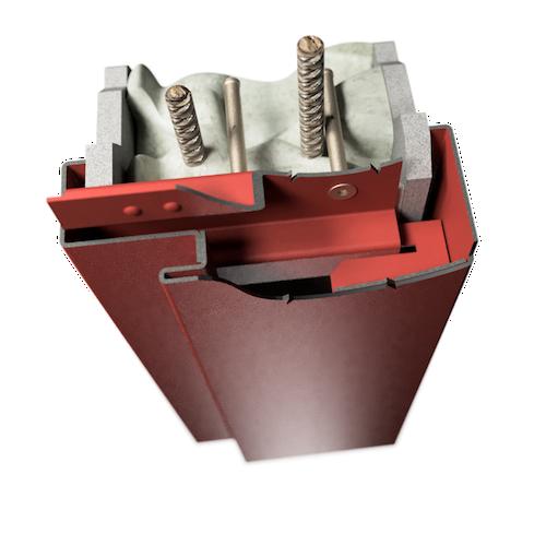 ocelová zárubeň HSE typ DZD dvoudílná zárubeň pro dodatečnou montáž