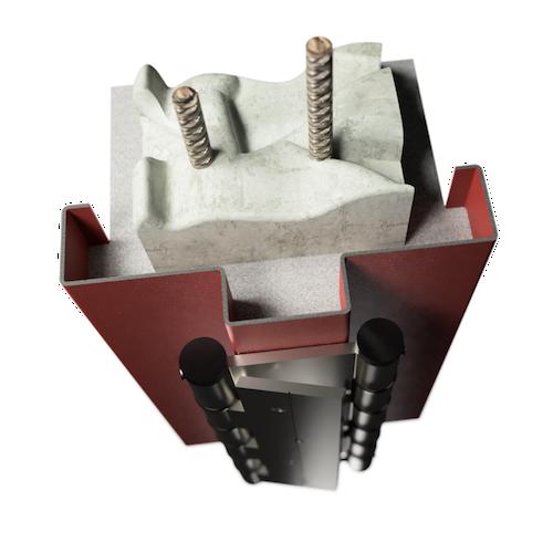 ocelová zárubeň HSE typ K kyvadlová zárubeň