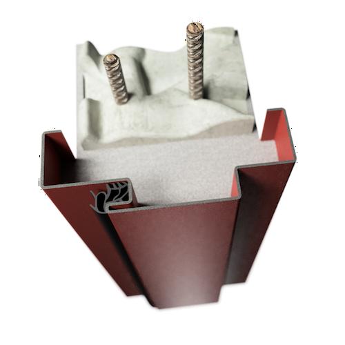 ocelová zárubeň HSE typ OP zárubeň s optickou polodrážkou
