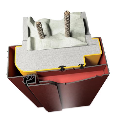 ocelová zárubeň HSE typ OZO obložková renovační zárubeň
