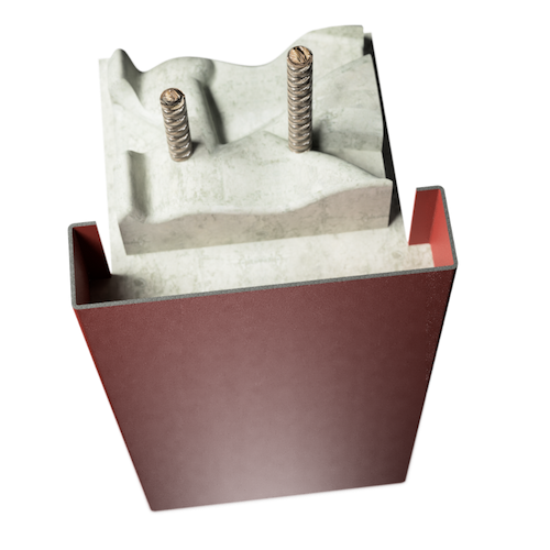ocelová zárubeň HSE typ P průchozí zárubeň