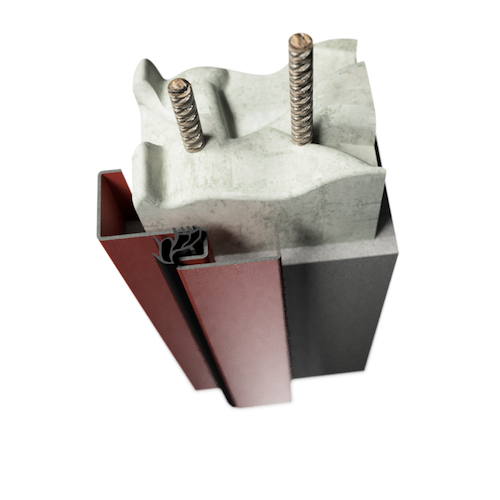 ocelová zárubeň HSE typ R rohová zárubeň