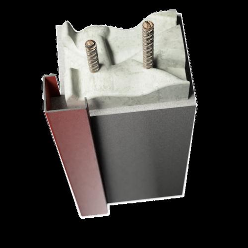 ocelová zárubeň HSE typ RP rohová zárubeň rámovací