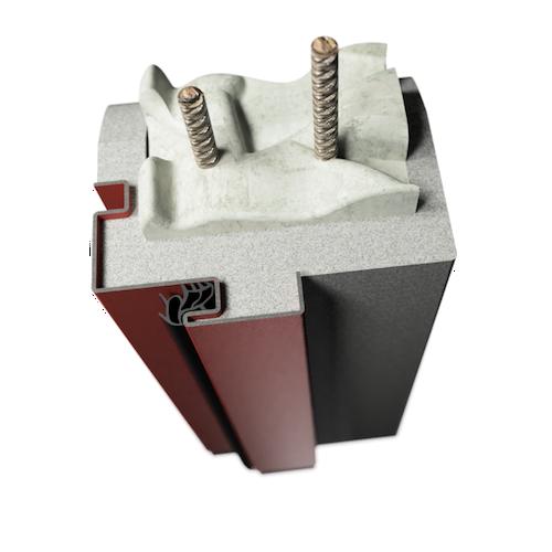 ocelová zárubeň HSE typ RSD rohová zárubeň se stínovou drážkou