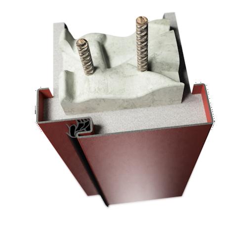 ocelová zárubeň HSE typ S světlíková zárubeň