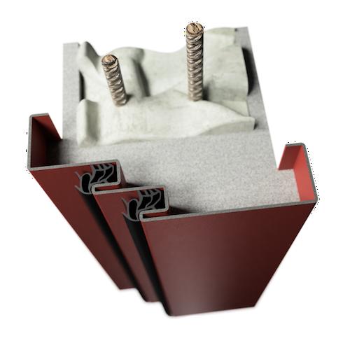 ocelová zárubeň HSE typ SDF světlíková zárubeň s dvojitým falcem