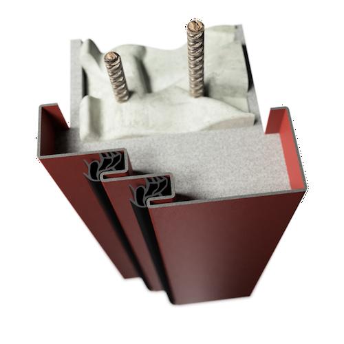 ocelová zárubeň HSE typ UDF univerzální zárubeň s dvojitým falcem